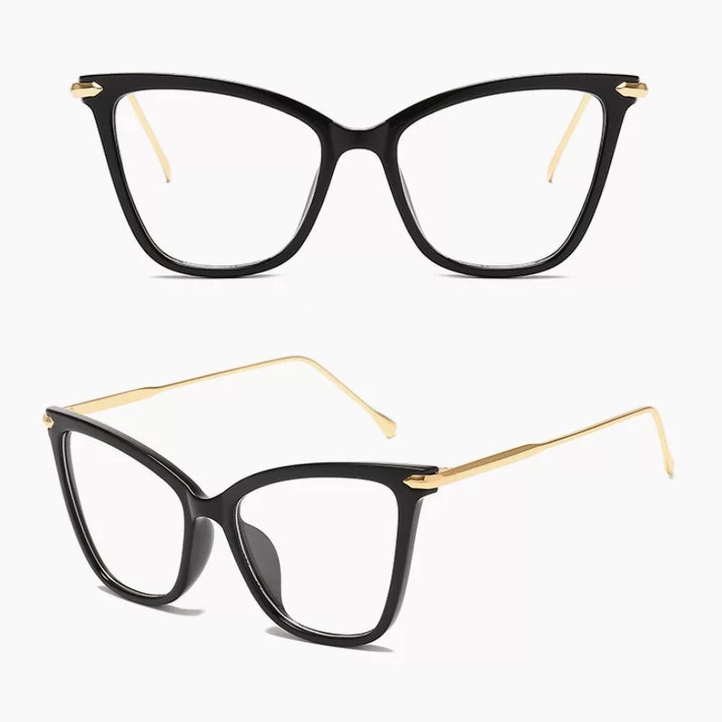 Black and Gold Clear Glasses