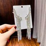 Bling Tassell Ear Hook Earrings