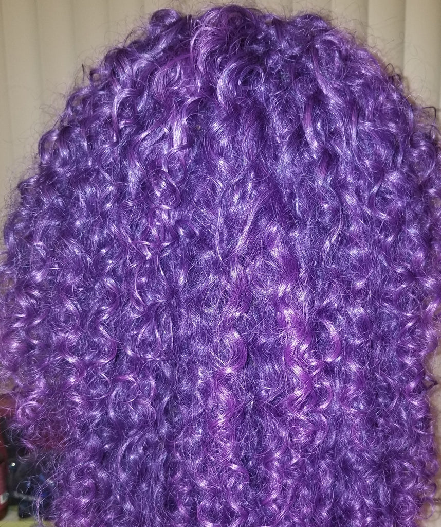 Purple Curly 20inch Wig