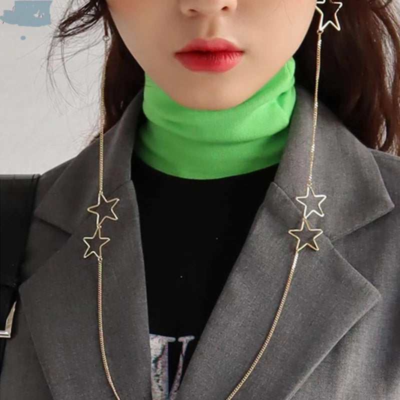 Star Single Chain Earring