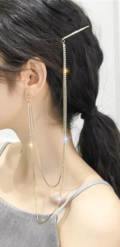 Unique Bling Hairpin Earring