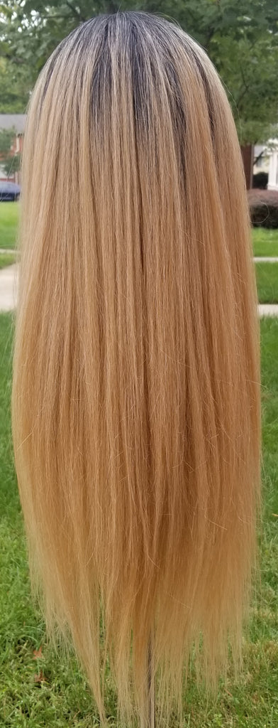 20inch Blonde Ombre Center Part Wig