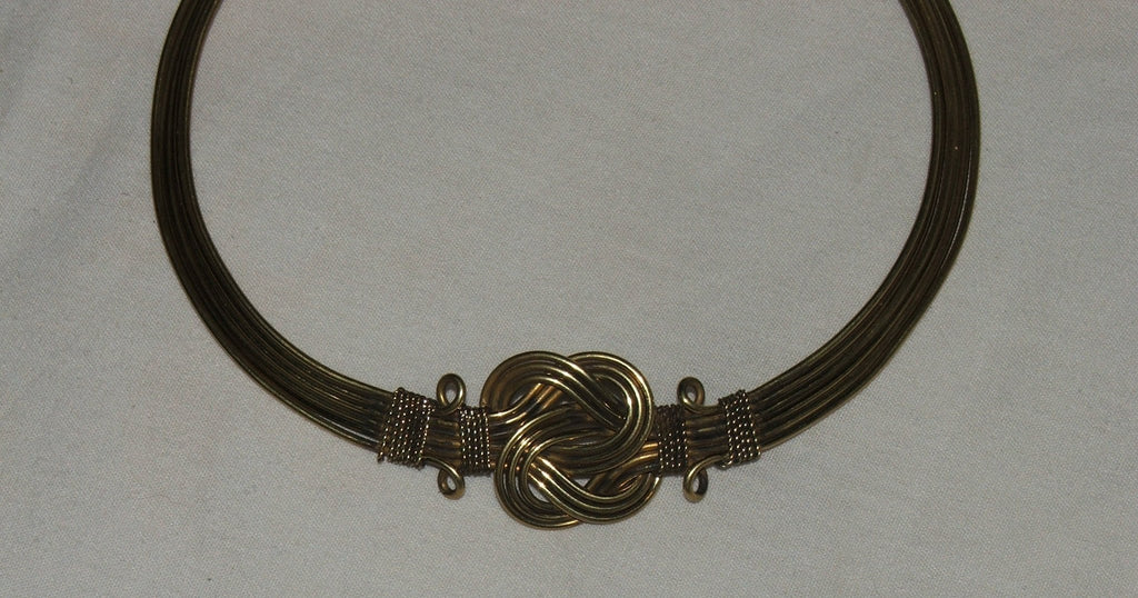 Bronze Metal Choker Necklace