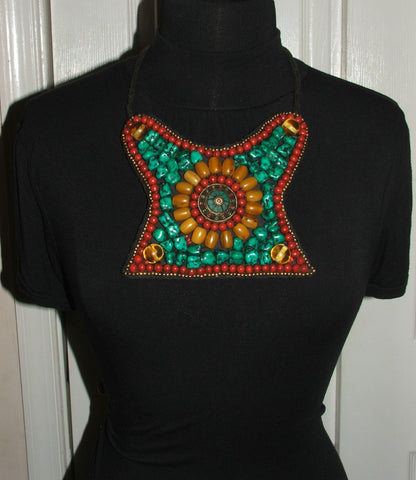 Ethnic Multi Colored Beaded Necklace