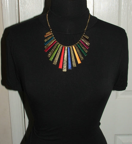 Chunky Ethnic Beaded Necklace