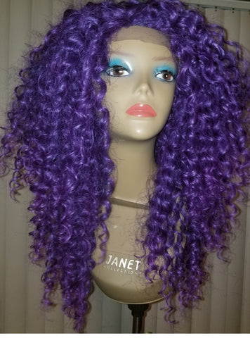Blonde Curly Handmade Wig