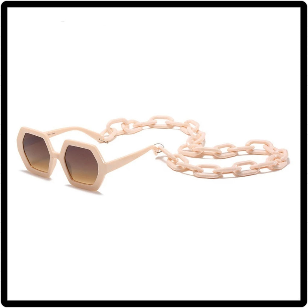 Tan unique chain Sunglasses