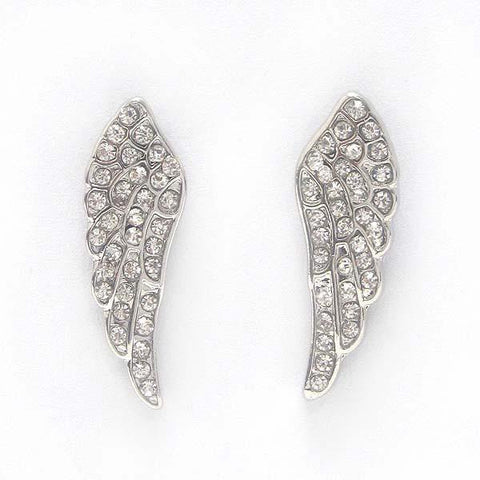 Crystal Stud Pretzel Earrings