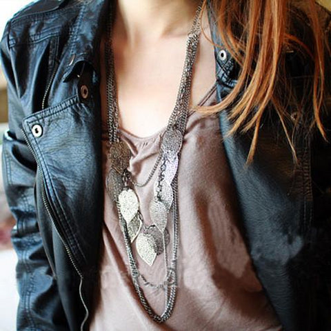 Multi layer Anchor Necklace