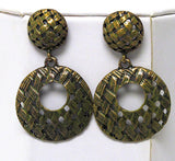 Weave Pattern Earrings