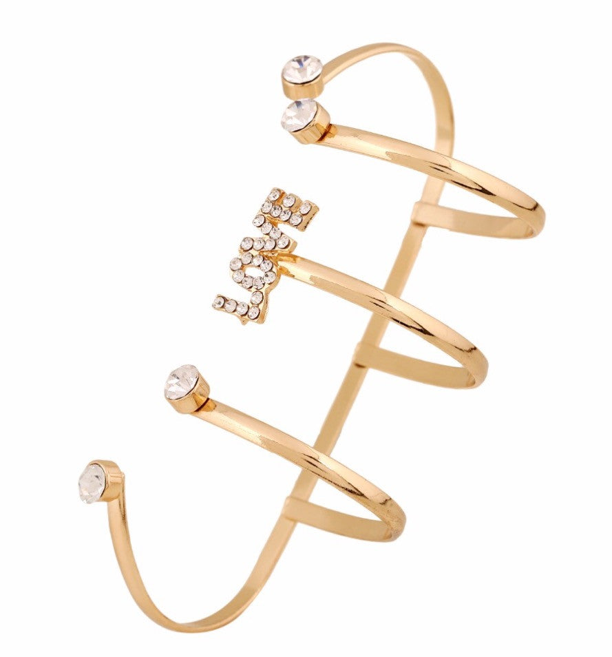 Unique 18k Gold Plated LOVE Hand Jewelry