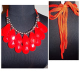Red Tie Back Necklace