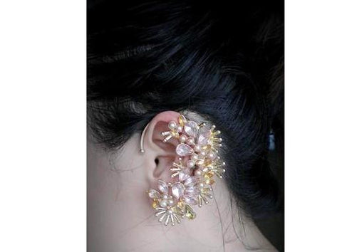 Spike Crystal Ear Cuff
