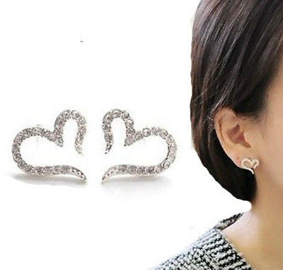 Rhinestone Heart Earrings