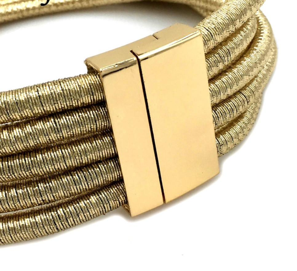 Gold Coil Choker Necklace