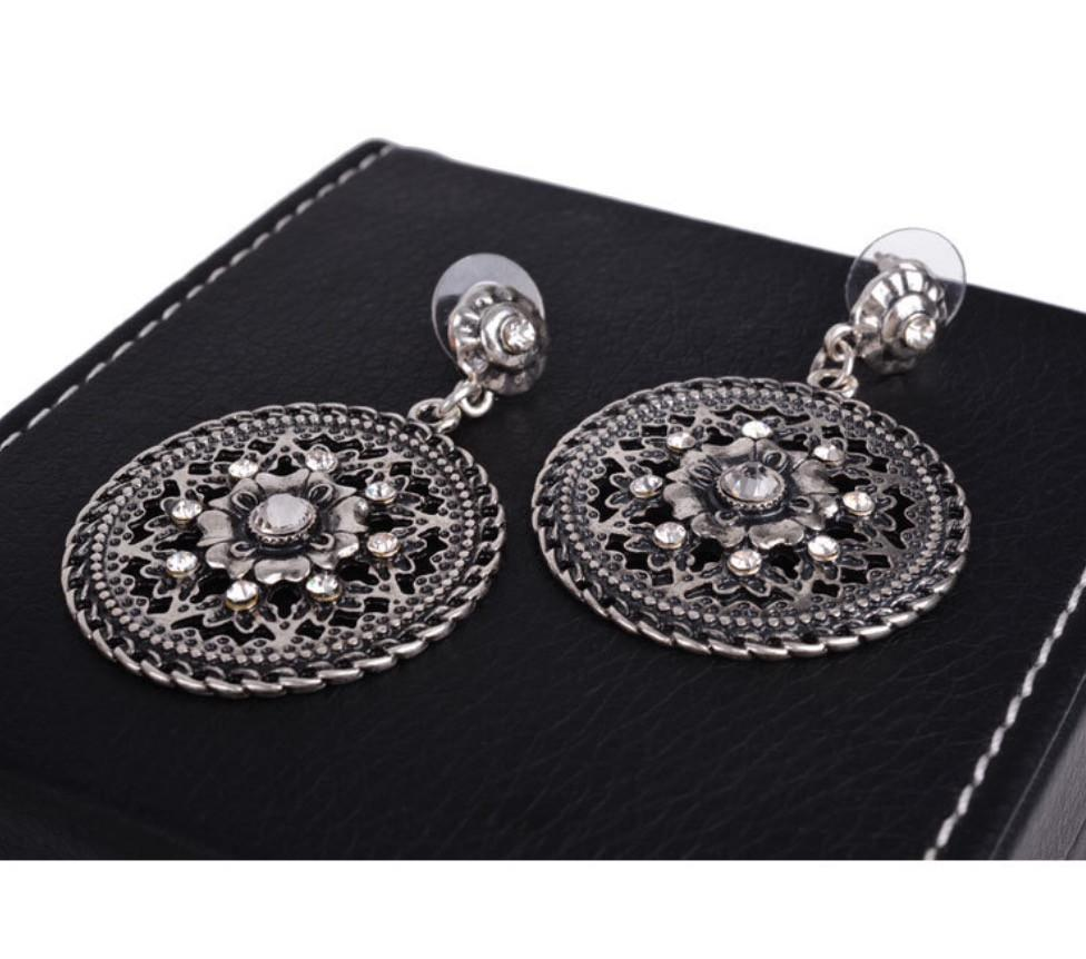 Antique Style Silver Dangle earrings