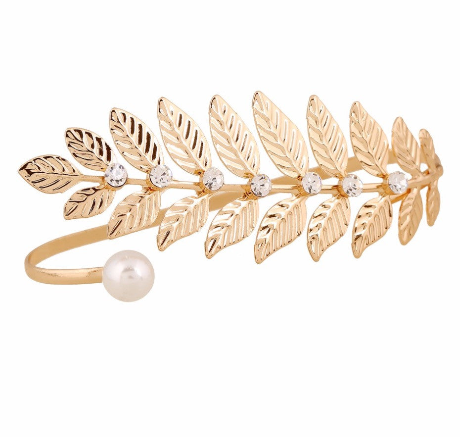 Unique 18k Gold Plated Leaf Hand Jewelry