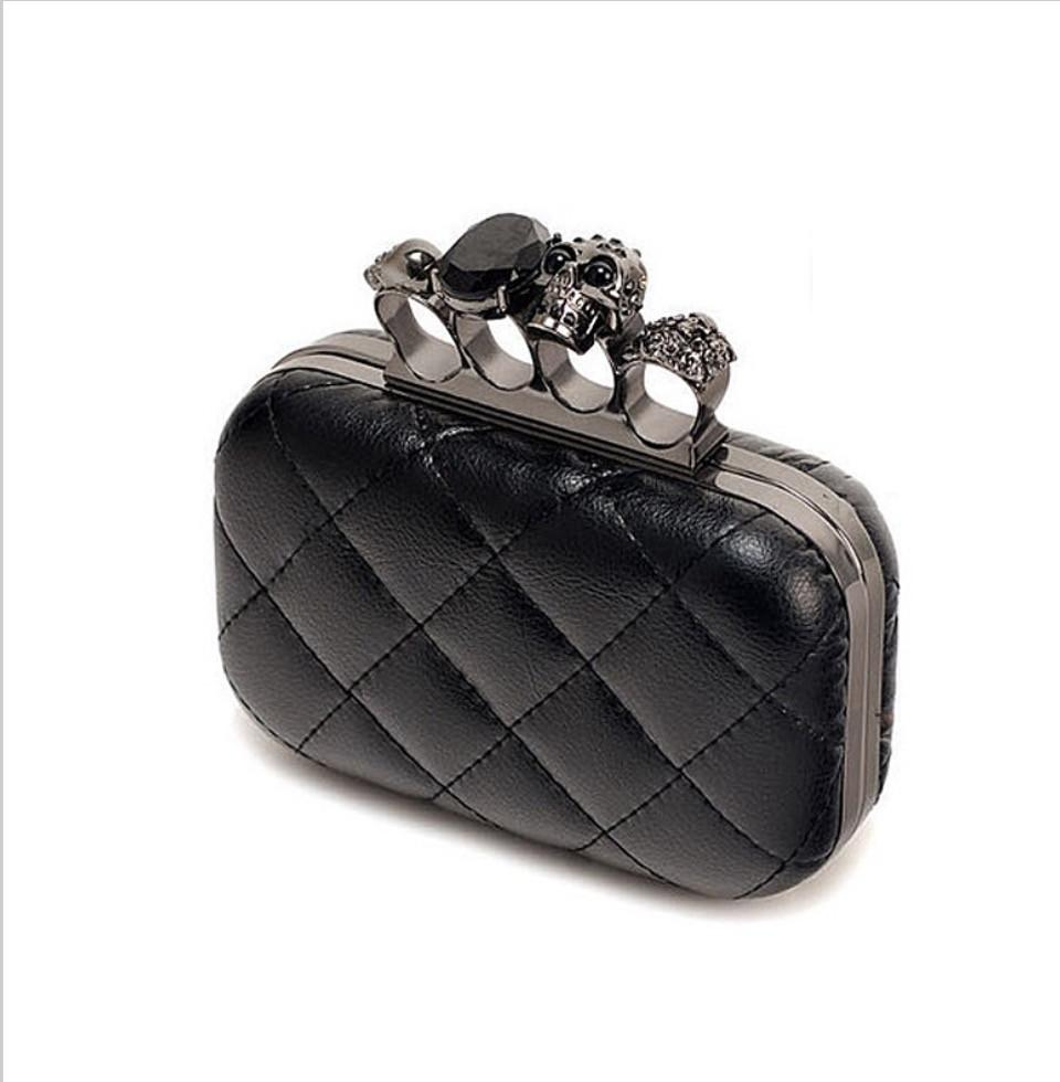 Black Skull Knuckle Clutch