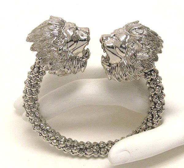 Large Double Lion Bracelet