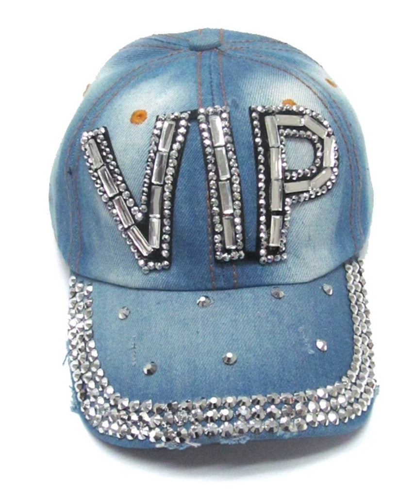 Rhinestone Denim VIP Hat