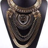 Ethnic Tribal Statement Necklace