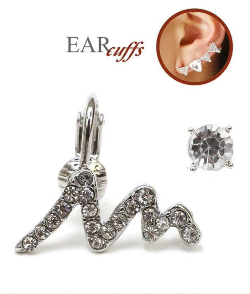 Zigzag Crystal Ear Cuff