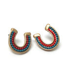 Horse Shoe Beaded Earrings