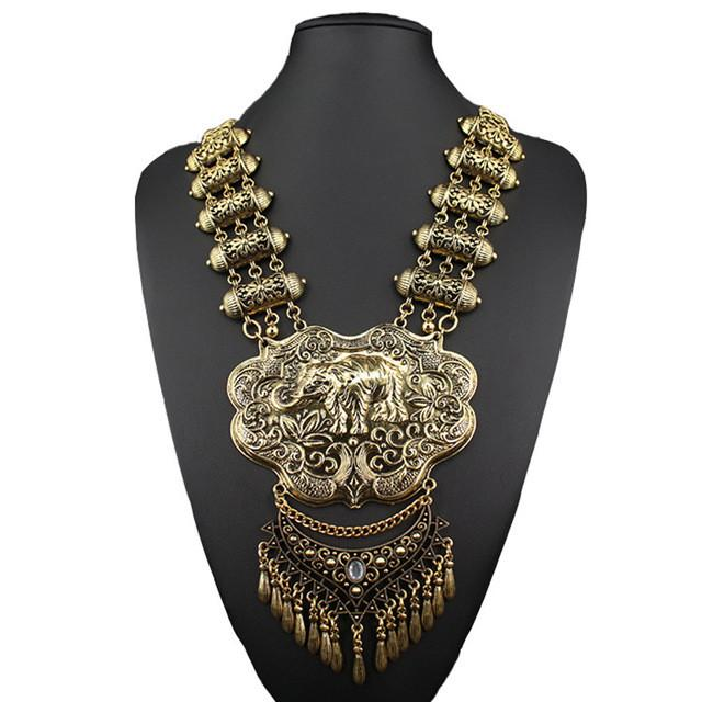 Chunky Elephant Statement Necklace