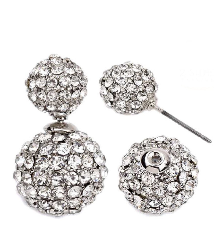 Fireball Crystal Doubleside Earrings