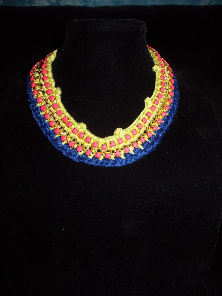 Bright Multicolored Choker Necklace