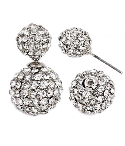 Crystal Cubed Double Sided Earrings