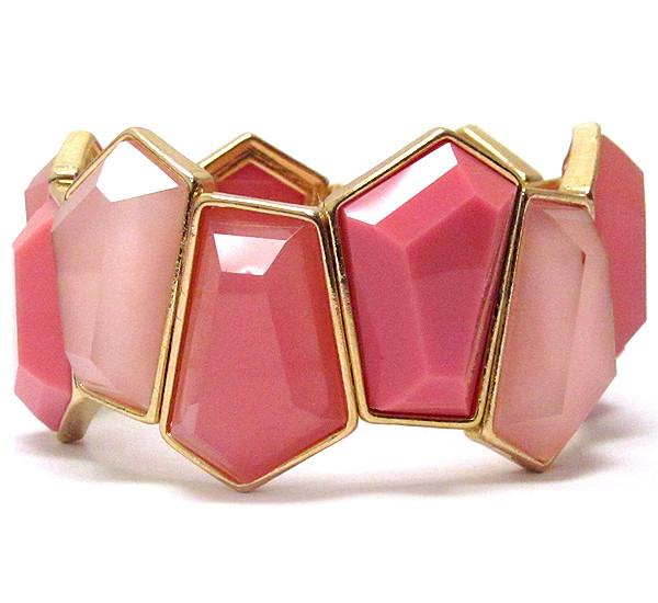 Abstract Metal Pink Bracelet