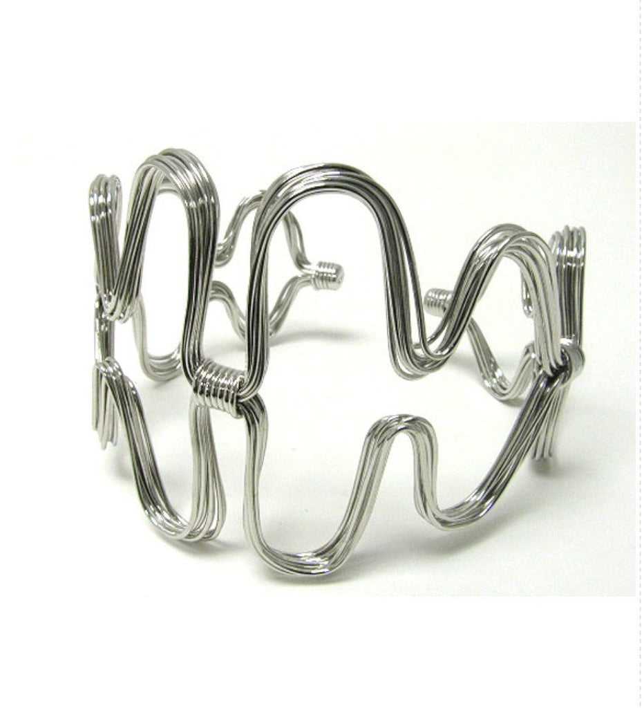 Abstract Wire Arm Cuff