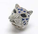 Large Animal Crystal Adjustable Ring