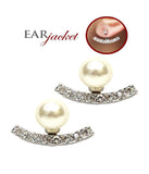 Pearl Rhinestone Ear Jacket