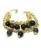 Two Layer Black Chain Bracelet