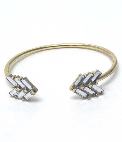Gold Tone Abstract Cuff