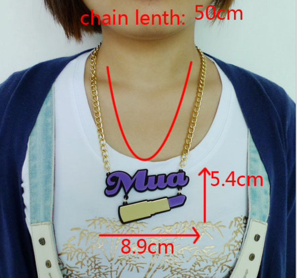 MUA Mirror Necklace