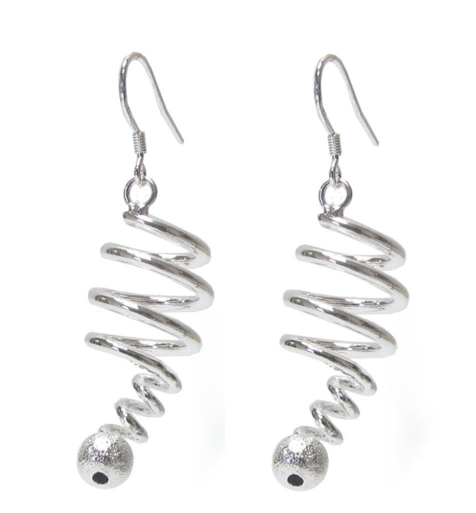 925 Silver Swirl Earrings