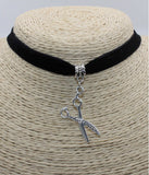 Black Scissors Choker Necklace