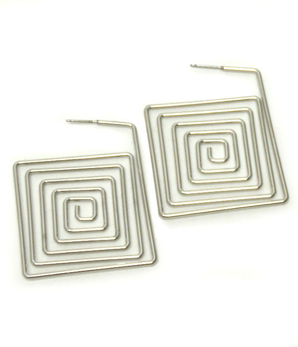 Square Swirl Earrings