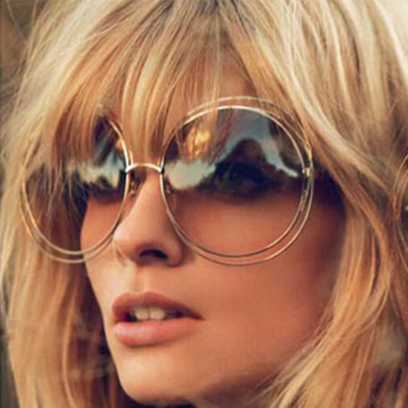 Retro Oversized Round Sunglasses