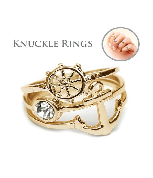 Nautical Knuckle Rings