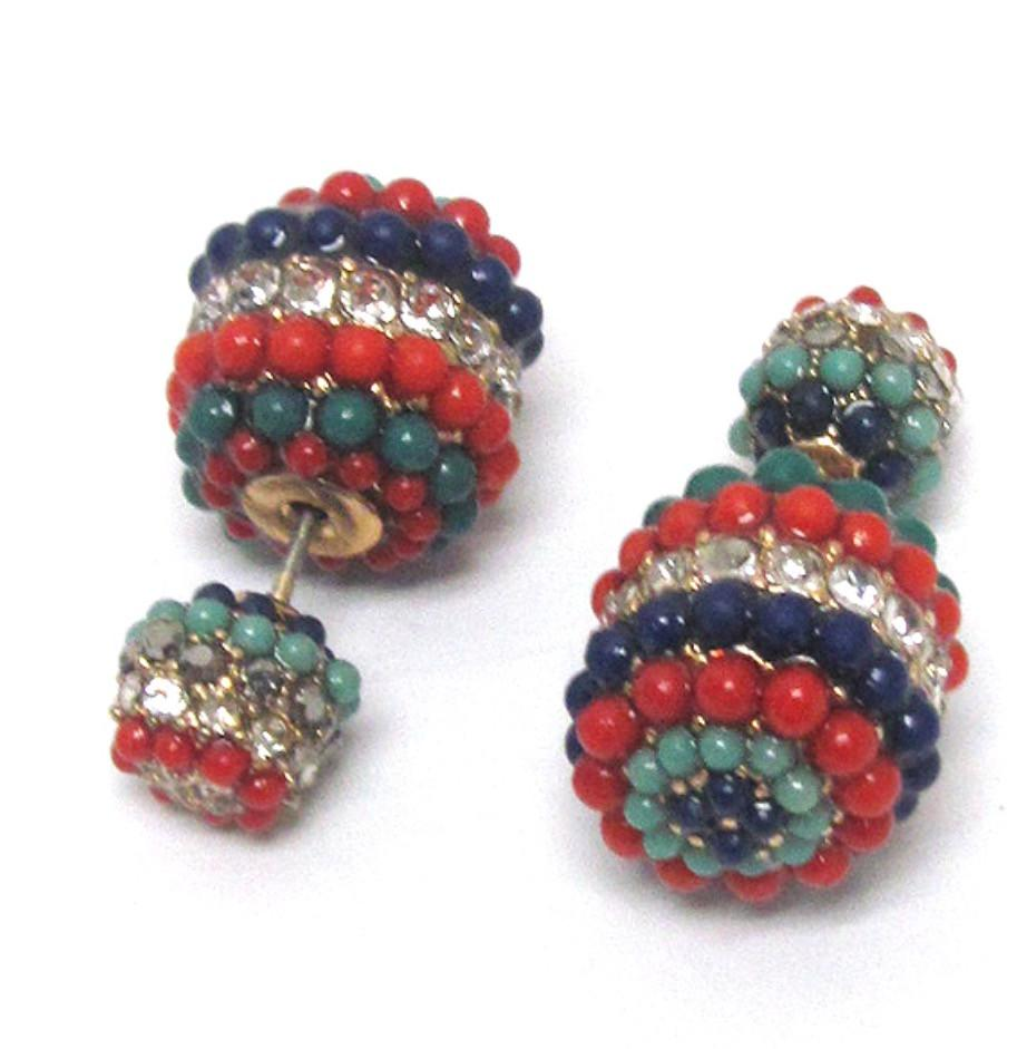 Double Sided Multicolored Earrings