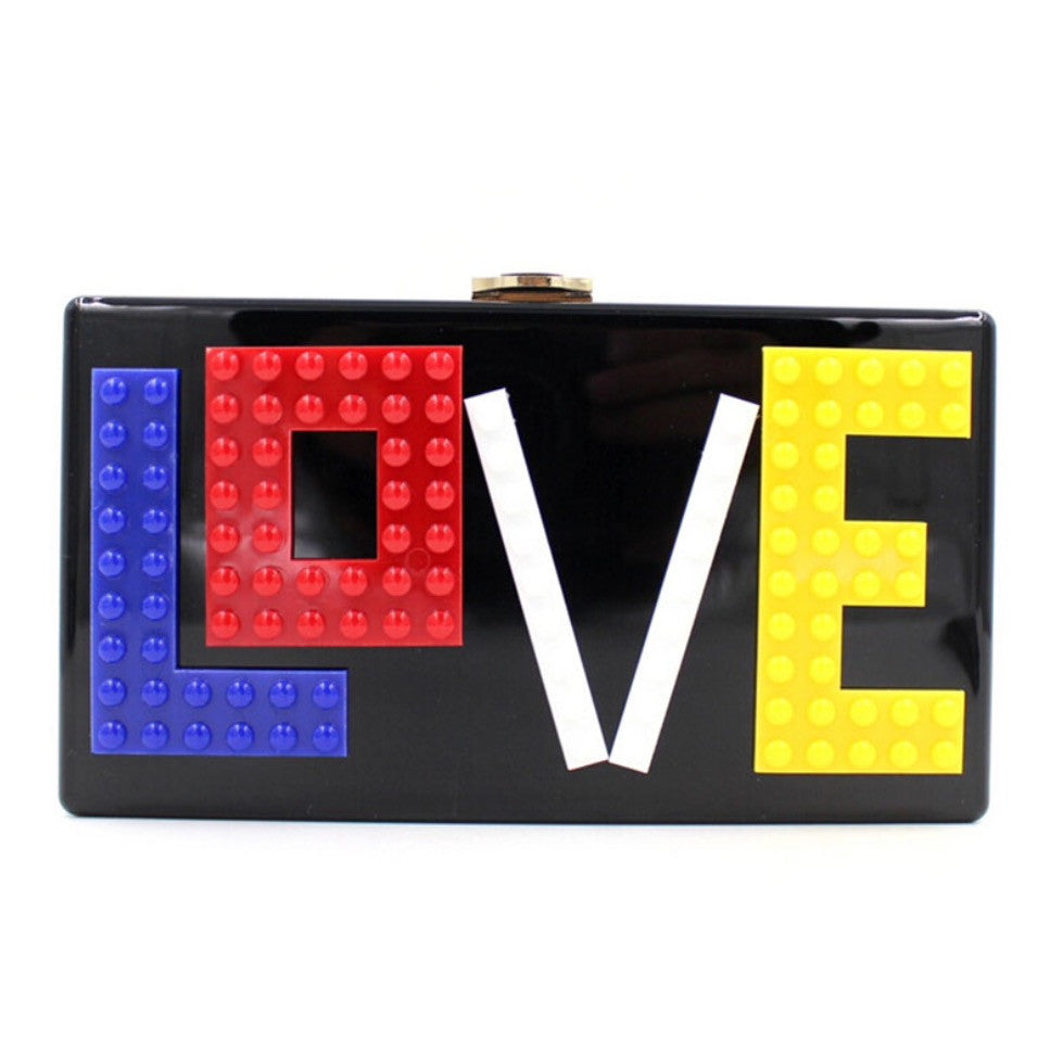 Unique LOVE Lego Clutch