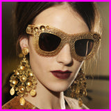 Unique Gold Lace Sunglasses