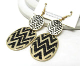 Oval Zig Zag Earrings