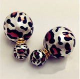 Leopard Double Sided Bubble Earrings