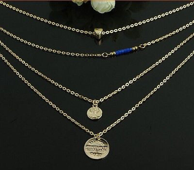 Multilayer Tree Coin Necklace