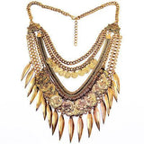 Boho Tribal Style Statement Necklace